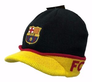a25a286699f Image is loading FC-Barcelona-Official-Licensed-Winter-Cuffed-Beanie-with-