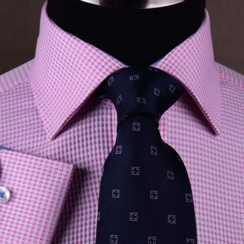 Pink Houndstooth Men/'s Formal /& Business Dress Shirt Plaids /& Checks Hot Gingham
