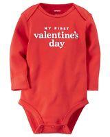 Infant Boys Red my First Valentine's Day Bodysuit Size 3m