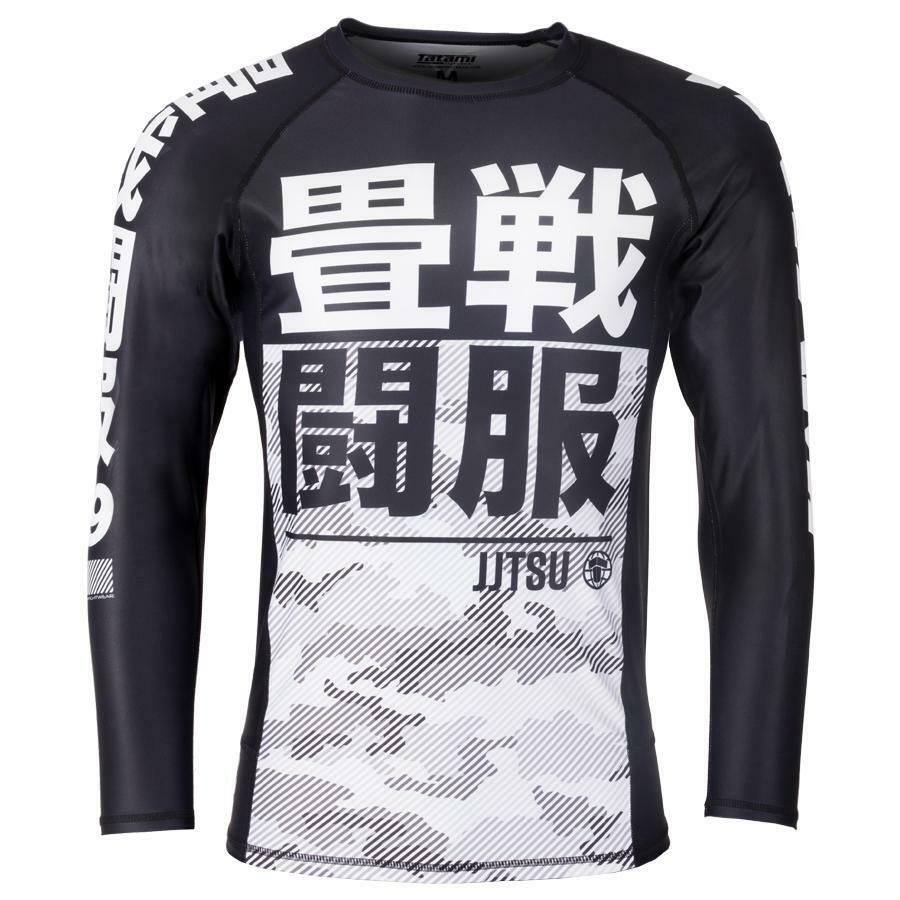Tatami essentiell vit Camo Long Sileve Rash Guard BJJ No Gi MMA Jiu Jitsu Top