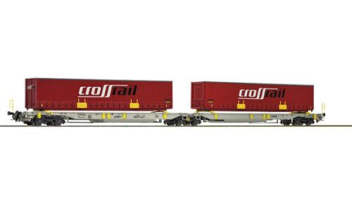 Roco HO 67402 Crossrail Doppelgelenkwagen-Container NEUWARE vom Fachhändler