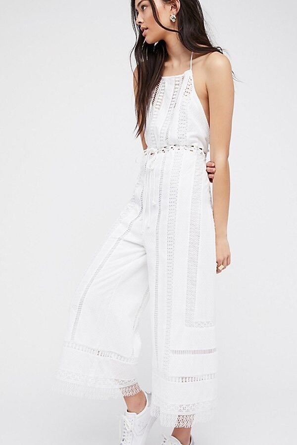 NWTFree People Sydney Sky Romper  In White Size Large MRSP