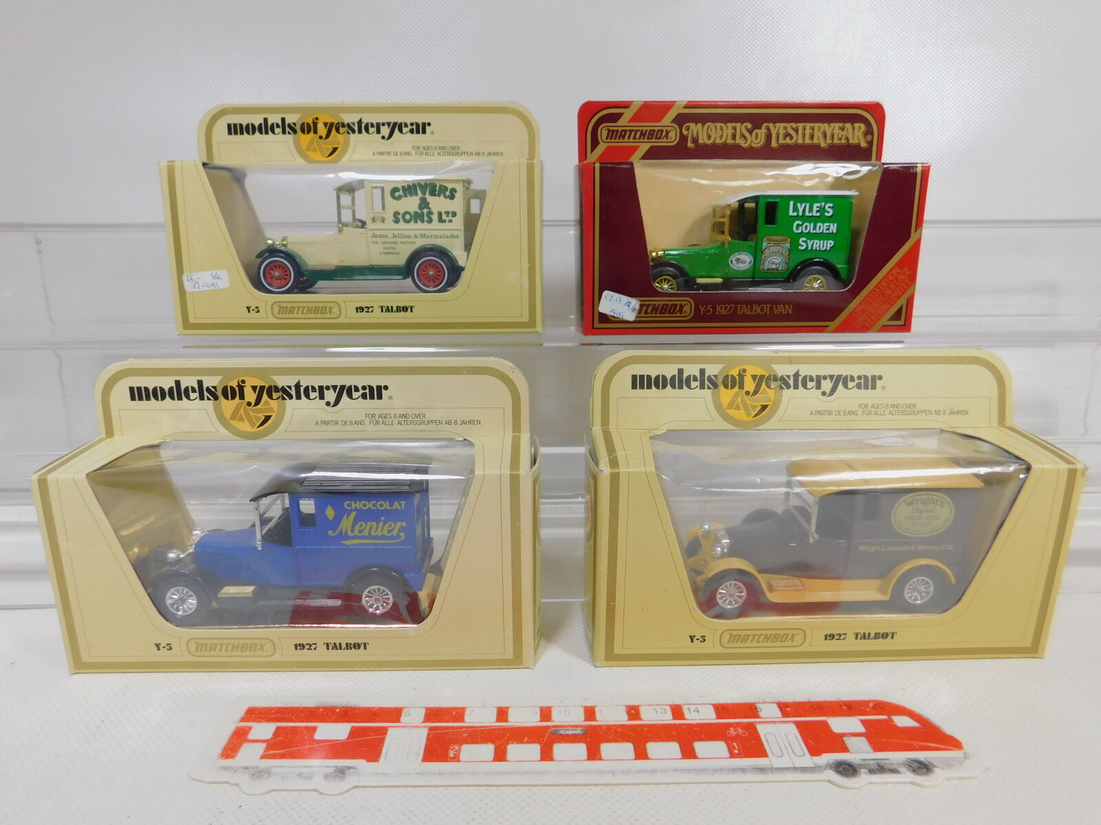 promociones CA187-1  4x Matchbox 1 47 Y-5 Furgoneta Furgoneta Furgoneta Talbot 1927  Menier Etc, Ovp  distribución global