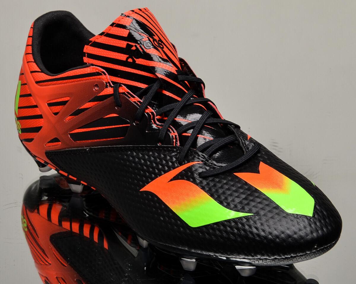 Adidas Messi 15.2 FG AG Hombres Zapatos Botines de fútbol negro brillante carmesí AF4658