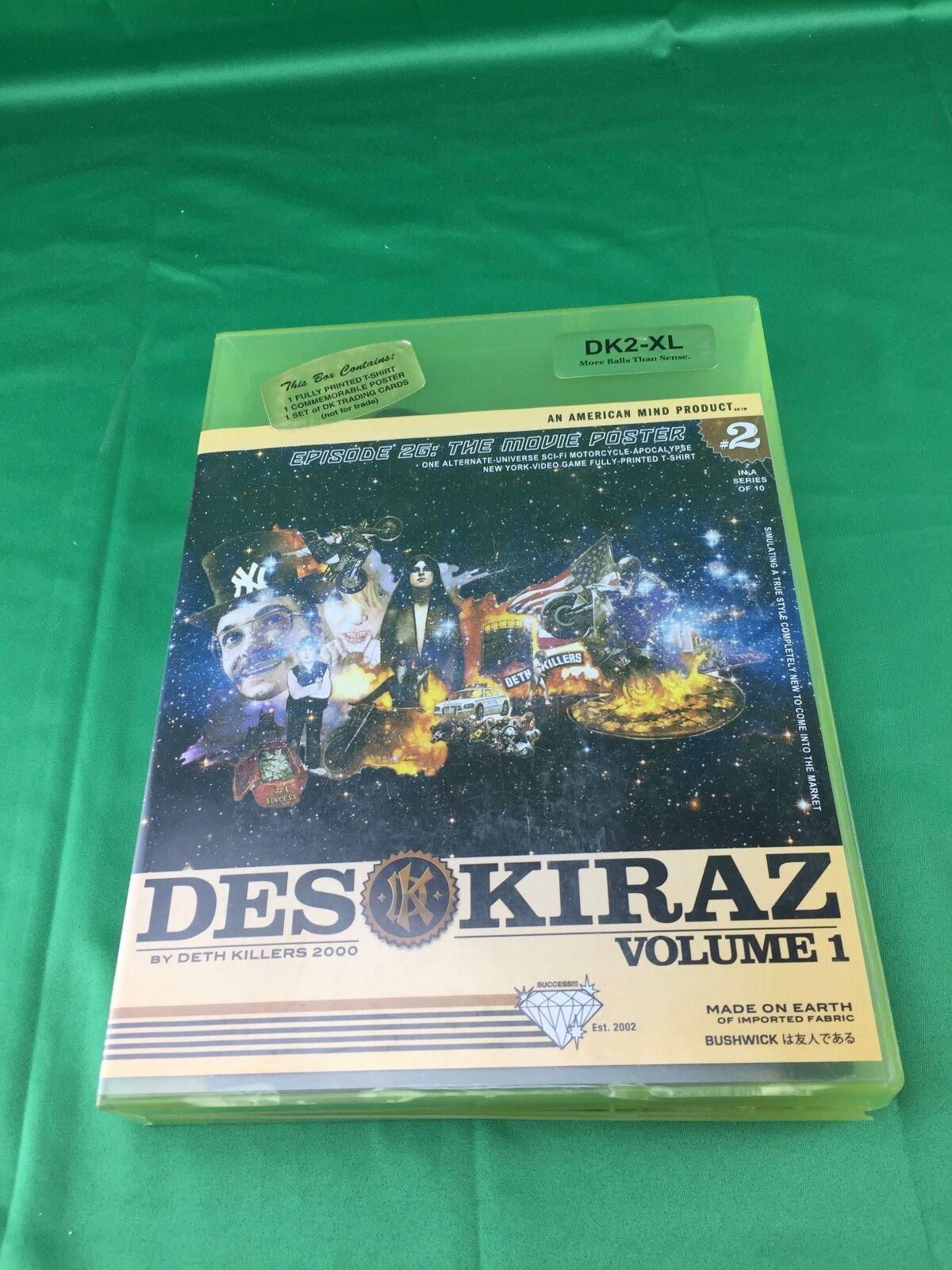 Deth Killers 2000 Volume 1 T-shirt XL Des Kiraz Episode 26  The Movie Poster