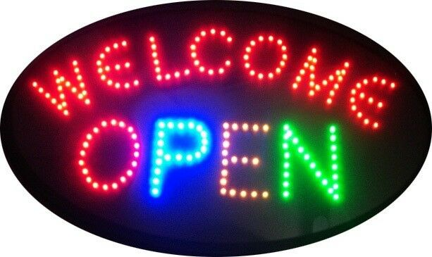 NEON LED WELCOME-OPEN SIGN  --- BRAND NEW