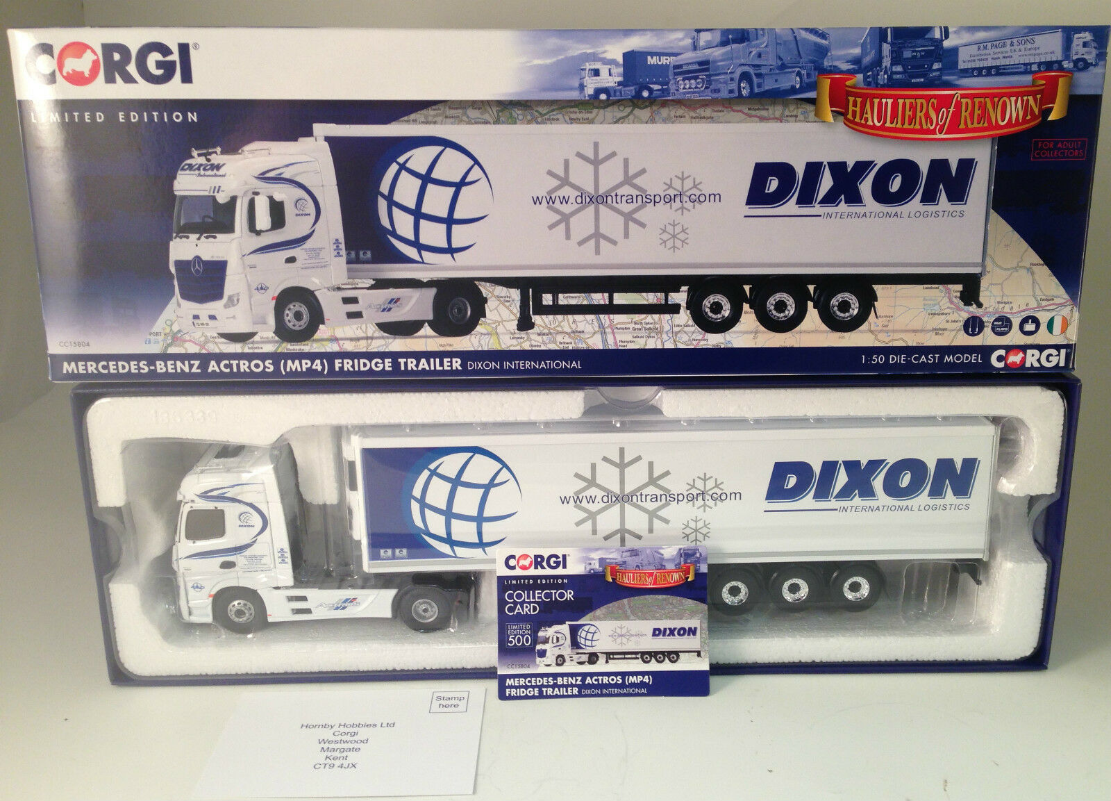 Corgi CC15804 Mercedes-Benz Actros (MP4), Fridge Trailer, Dixon Intl. NEW