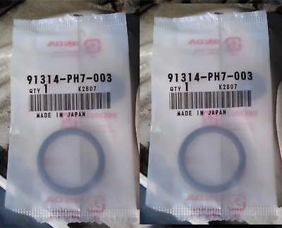 GENUINE OEM HONDA ACURA COOLANT CONNECTING PIPE O-RING 31.2X4.1 SET OF 2