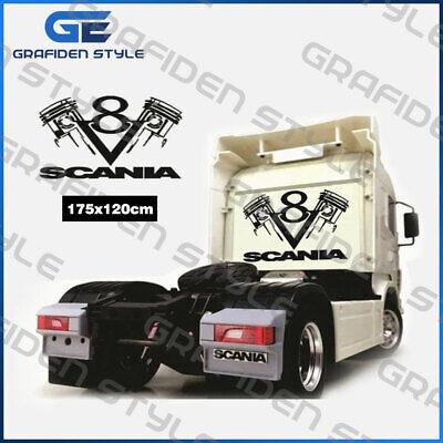 Gewissenhaft 1 Stück Scania V8 Lkw Kabinenrückwand Aufkleber - Sticker - B 175cm X H 120cm !