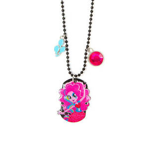 My little pony pinkie pie dog tag necklace equestria girls pendant image is loading my little pony pinkie pie dog tag necklace aloadofball Gallery