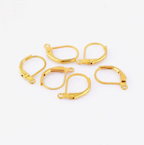 Hot 30pcs Silver Plated Lever Back Earring Findings Ear Clip Jewelry Findings