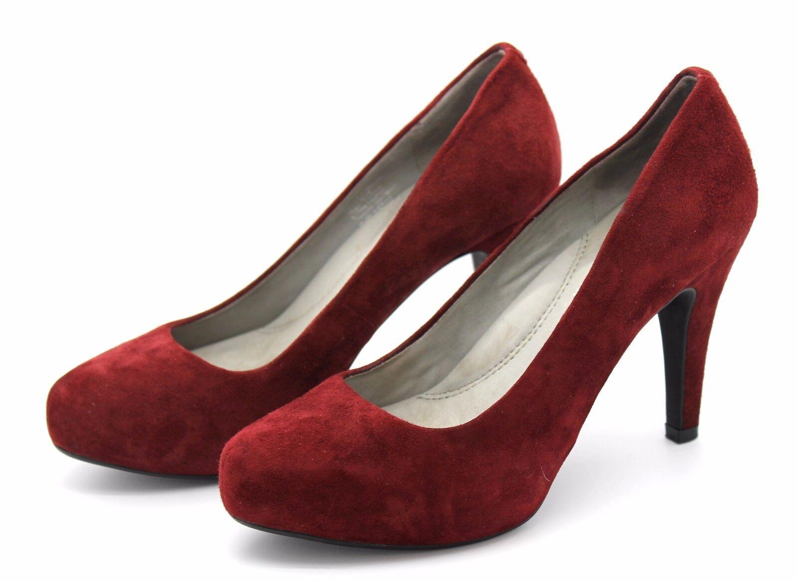 Kenneth Cole New York damen UK 4.5 EU 37 Ruby rot Suede High Heel Court schuhe
