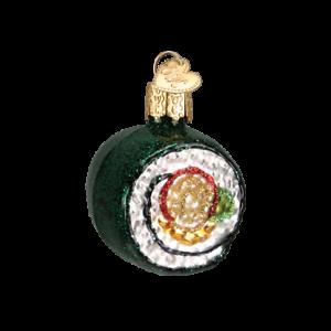 Old-World-Christmas-SUSHI-ROLL-32110-N-Glass-Ornament-w-OWC-Box