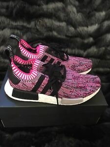 71b0fb1ca Brand New Adidas NMD R1 PK Primeknit Shock Pink Core Black Camo ...