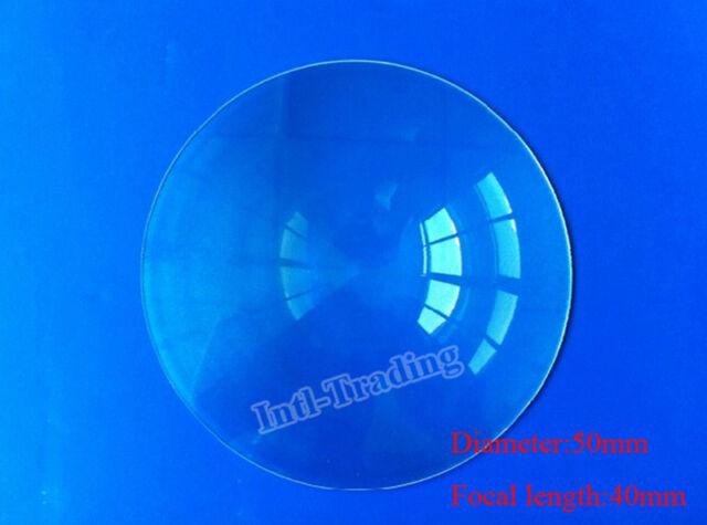 1X 50mm Diameter Fresnel Lens DIY TV Projection Solar Cooker HighLight Condenser