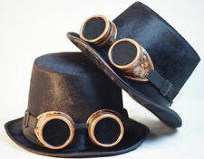 Steampunk-Gothic-SCIFI-Cosplay-Victorian-TOP HAT & BRASS STYLE OVERSIZE GOGGLES