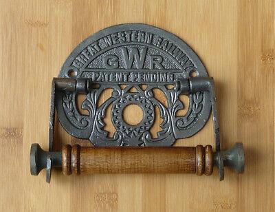 Porte-rouleau de toilette antique en fonte Vintage Style GWR Great Western Railway