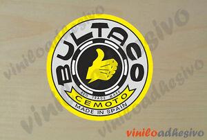 Pegatina Sticker Vinilo Moto Bultaco Ref3 Insignia Autocollant Aufkleber Adesivi Excellent Effet De Coussin