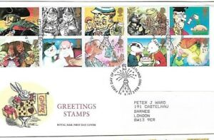 Greetings stamps royal mail fist day cover fdc free uk post ebay image is loading greetings stamps royal mail fist day cover fdc m4hsunfo