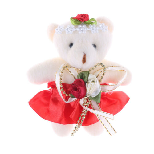 Lovely Mini Soft Plush Bears 12cm Stuffed Small Bear Doll Toy For Kids GiftMAEK