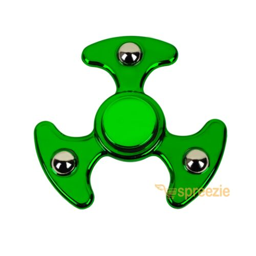 Green Fidget Hand Spinner Toy Anxiety Stress Relief Focus EDC UFO Metallic ADHD
