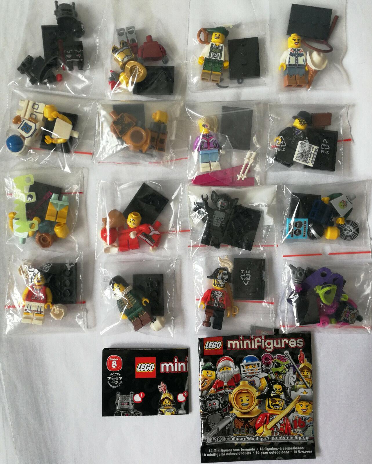 LEGO ®  8833 personaggi serie 8 Completa Set Tutte le 16 cifra parzialmente Merce Nuova  la vostra soddisfazione è il nostro obiettivo