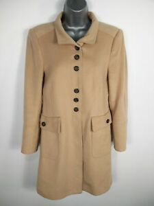 WOMENS-ZARA-BEIGE-BUTTON-UP-SINGLE-BREASTED-WOOL-BLEND-OVERCOAT-JACKET-L-LARGE
