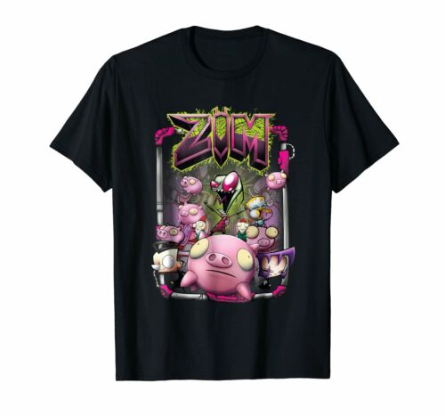 Black Nickelodeon Invader Zim Rubber Piggy Army T-Shirt  US Men/'s trend 2019