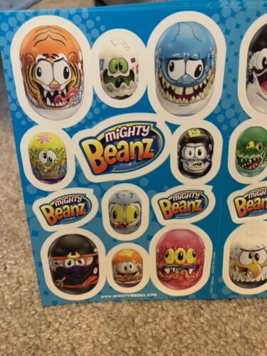 Details about  /Lot Of 25 Sheets Of Mighty Beans Stickers
