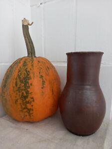 Antique Storage Crock Jar Glazed Jug matt Stoneware Ceramic Pottery Food storage