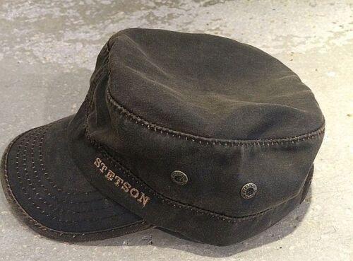 Stetson Datto co//PE cuba cap Army cap estilo vintage Brown 7491102//6