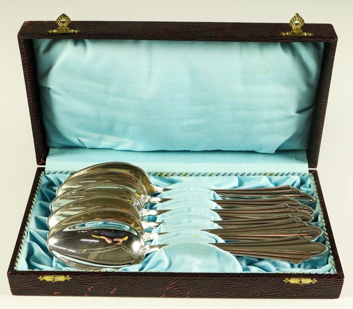 WMF 900 Fächermuster Tafel Löffel 21 cm Silber 90er Top Zustand in Box