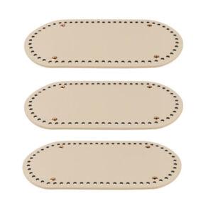 3x Rivet PU Bag Pad Shaper Tote Bottom Insert for Hand-woven Bag Accessory
