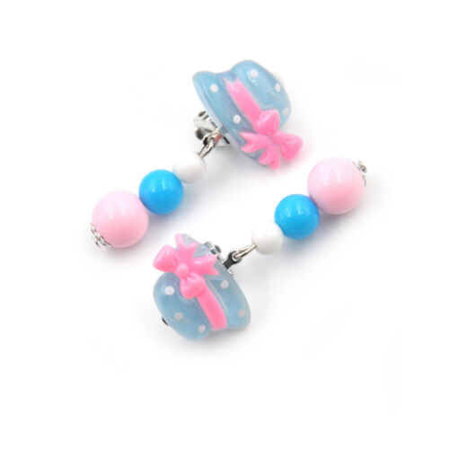 Fashion 1Pair Clip-On No Pierced Earrings For Kids Children Girls Birthday A!AL