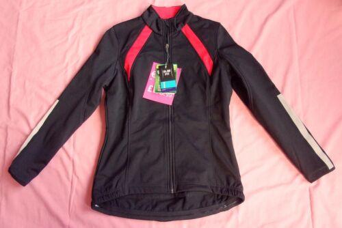 UK 14 NEW CRANE Women/'s Cycling Jacket Slim Fit Black//Red