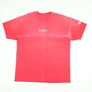 Destroyed-Sun-Faded-Krispy-Kreme-Hero-T-shirt-L-XL-Distressed-Grunge-Donuts-Red