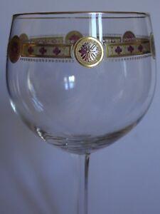 1 Ancien Grand Verre A Vin Ou Eau Cristal Jugenstil Fritz Heckert Decor Emaille AgréAble En ArrièRe-GoûT
