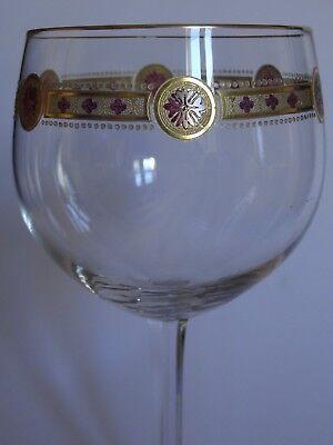 1 Ancien Grand Verre A Vin Ou Eau Cristal Jugenstil Fritz Heckert Decor Emaille Grade Producten Volgens Kwaliteit