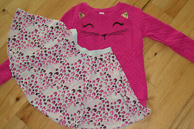 NWT Gymboree TAILS OF THE CITY Girls Size 5T Leopard Tee Top /& Leggings 2-PC SET