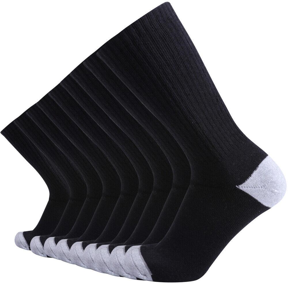 Enerwear 4P Pack Mens Wool Moisture Wicking Cushion Outwork Crew Socks