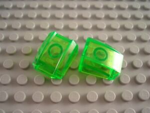 LEGO New Lot of 2 Translucent Clear 2x2 Curved Car Truck Vehicle Engine Bricks