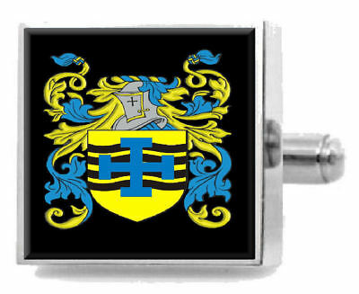 Select Gifts Macmurrough Ireland Heraldry Crest Sterling Silver Cufflinks Engraved Box