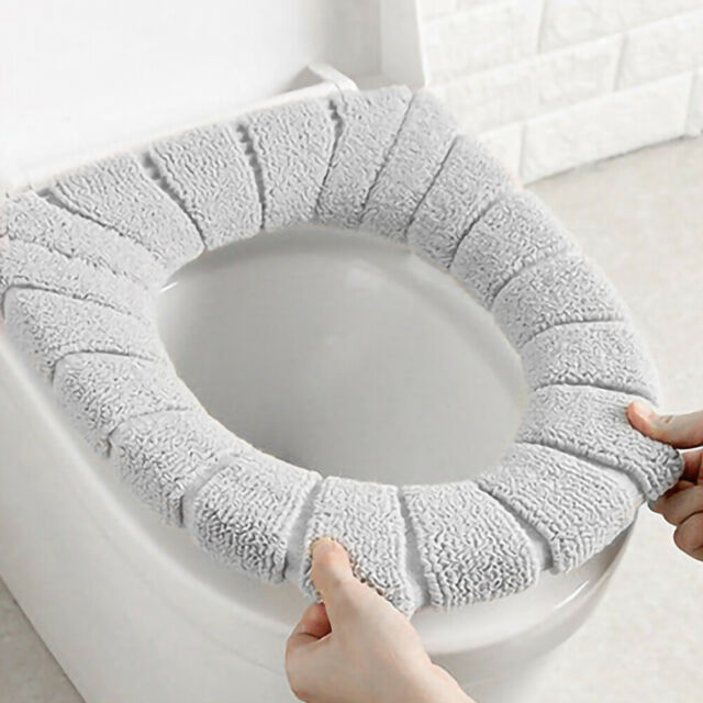 Toilet Seat Cover Pad Cushion Soft Cover Warmer Mat Closestool Washable Bathroom