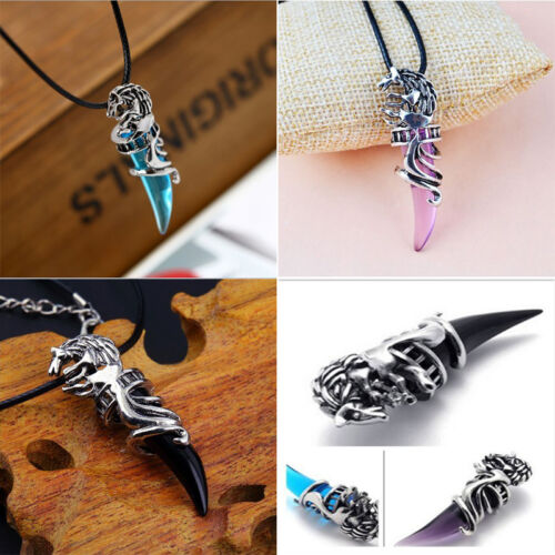 Brand New  Men/'s Stainless Wolf Tooth Shaped  Pendant Chain Fashion  Necklace