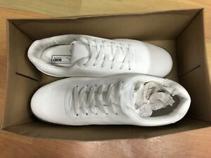 White Faux Suede With Gum Sole UK11   eBay