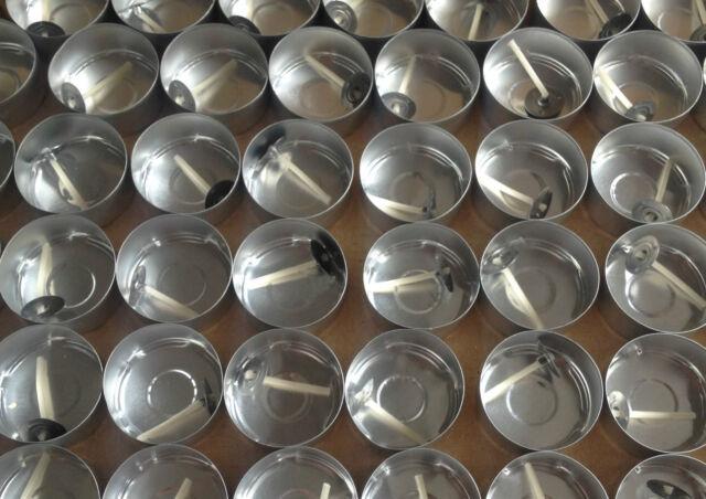 120 Aluminium Foil Tealight Cups plus 125 Pre waxed wicks.Tealight Moulds.