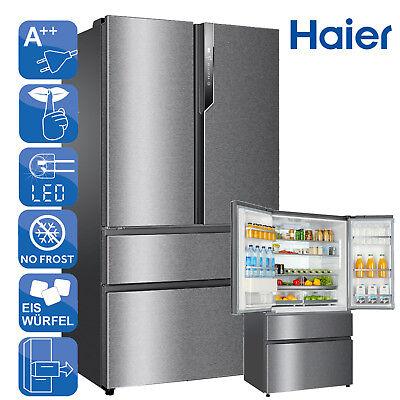 SidebySide Kühlschrank Kühl-Gefrierkombination A++ Haier HB25FSSAAA Edelstahl