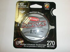 Berkley Nanofil Uni-Filament Fishing Line 0.17mm 9.7kg 270m Fishing tackle