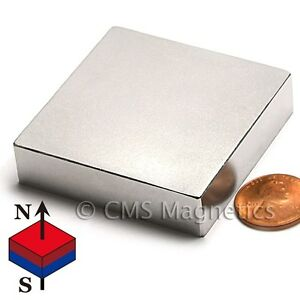 "Strongest N52 Neodymium Magnets 2x2x1/2"" Super Strong Rare Earth Magnet 1 PC"