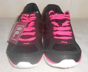 Details about FILA AMERICAN CANCER SOCIETY WALKING/RUNNING SHOES 7.5  BLACK/PINK/WHITE